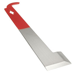 Stainless Steel J Shape Red Curved Tail Bee Hive Hook and Scraper Tool