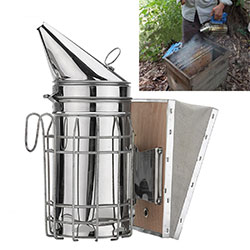 Galvanized Bee Hive Smoker with Heat Shield