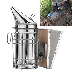 Galvanized Bee Hive Smoker with Heat Shield